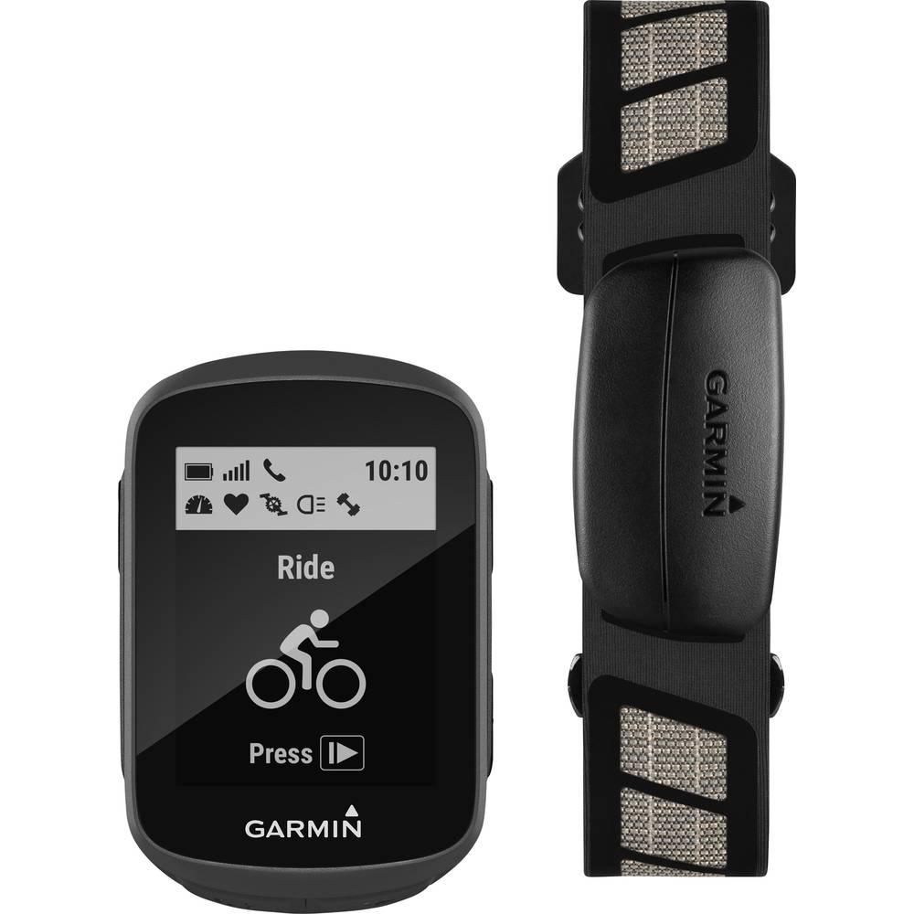 Garmin Edge 130 HR Bundle outdoorová navigace kolo Bluetooth® , GLONASS , chráněné proti stříkající vodě, GPS