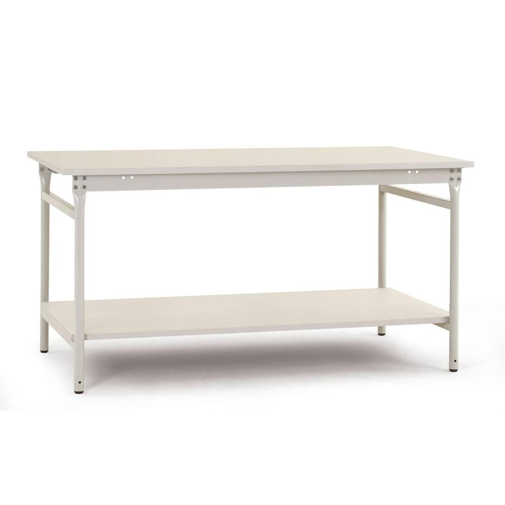Manuflex BB5227.7035 Servírovací stolek základní stacionárně 1500x800x780 mm, deska plastu s mezi podlahový RAL7035 světle šedá Barva: světle zelená
