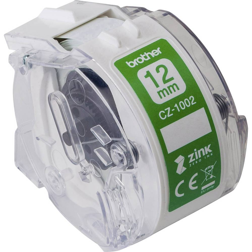 Brother etikety v roli 12 mm x 5 m papír bílá 1 ks permanentní CZ1002 role s barevnými etiketami