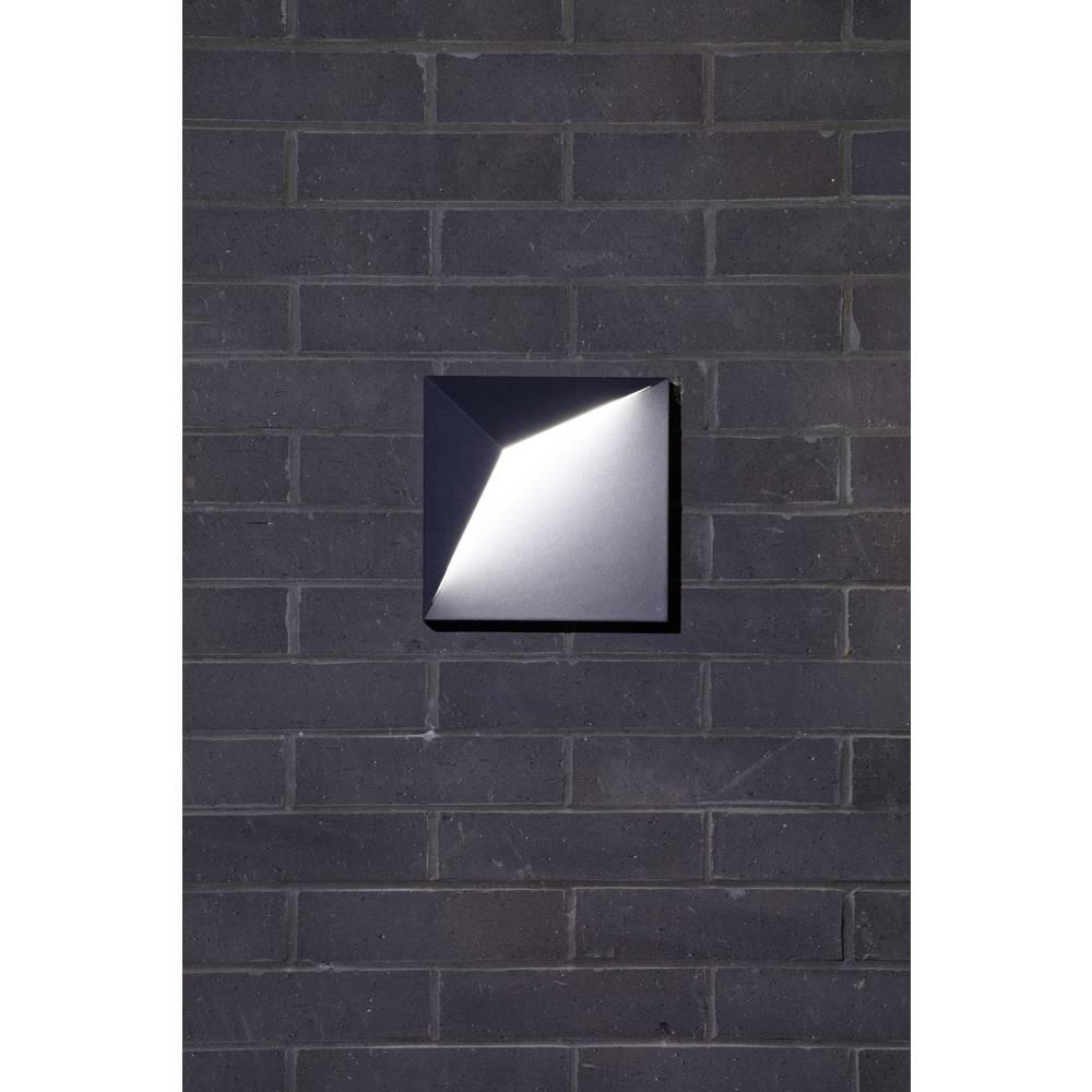 Polarlite Square W370 PL-8819400 venkovní nástěnné LED osvětlení LED pevně vestavěné LED 8 W černá
