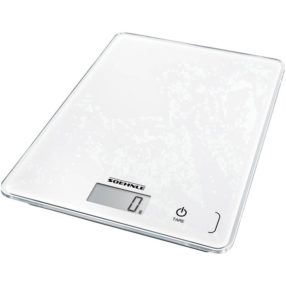 Soehnle KWD Page Compact 300 digitální kuchyňská váha s upevněním na stěnu Max. váživost=5 kg bílá