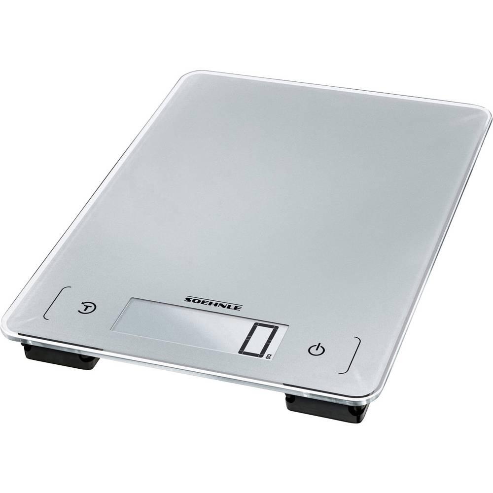 Soehnle KWD Page Aqua Proof digitální kuchyňská váha Max. váživost=10 kg stříbrnošedá