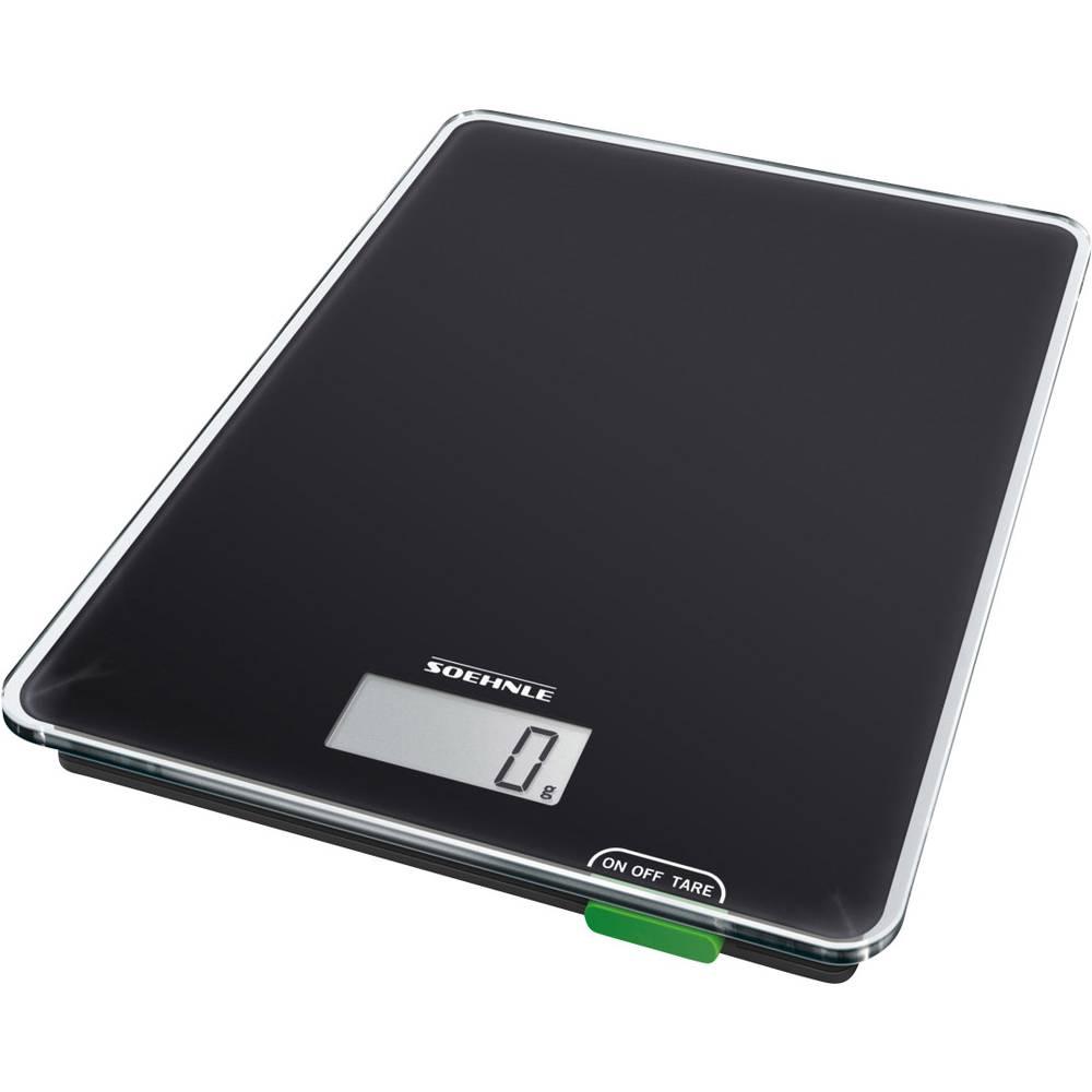 Soehnle KWD Page Compact 100 digitální kuchyňská váha Max. váživost=5 kg černá