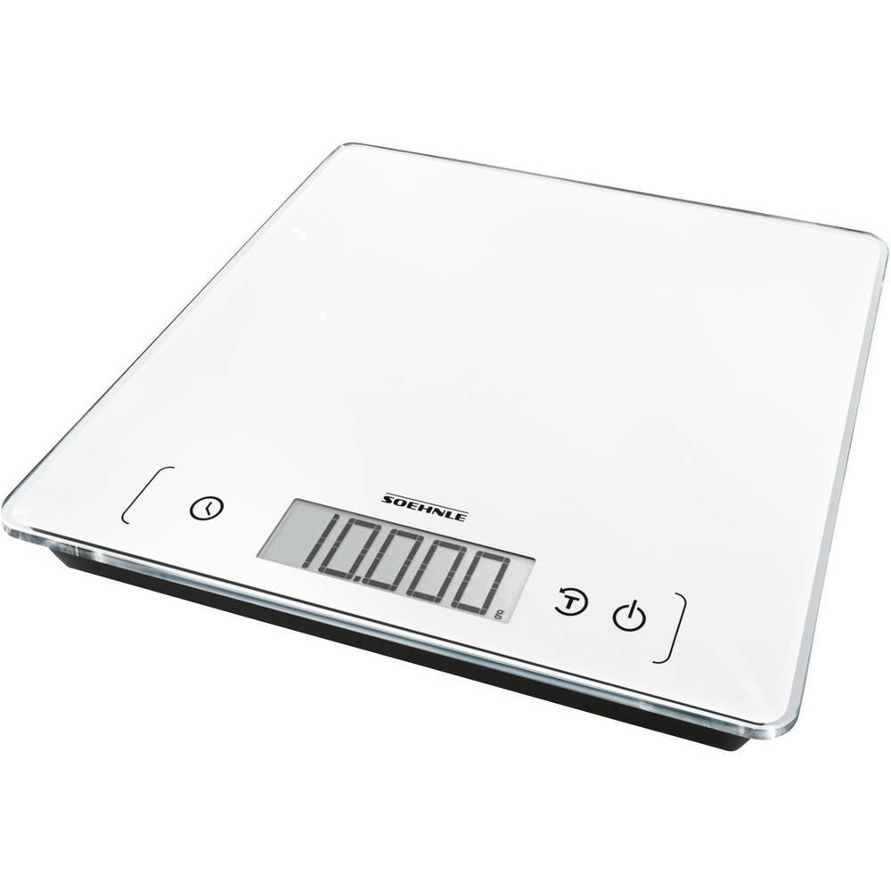Soehnle KWD Page Comfort 400 digitální kuchyňská váha Max. váživost=10 kg bílá