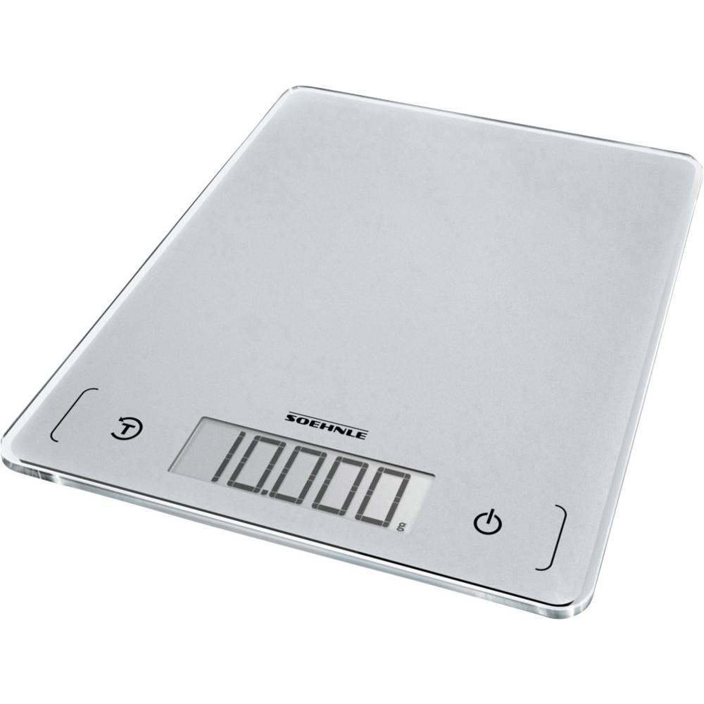 Soehnle KWD Page Comfort 300 Slim digitální kuchyňská váha Max. váživost=10 kg stříbrnošedá