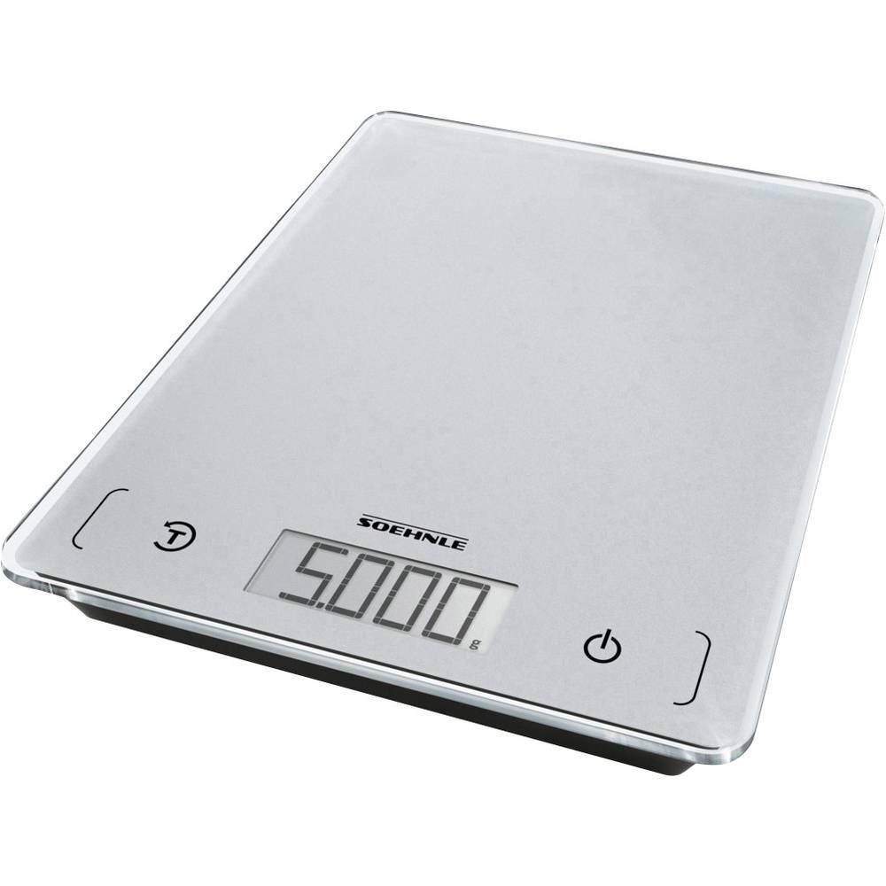 Soehnle KWD Page Comfort 100 digitální kuchyňská váha Max. váživost=5 kg šedá