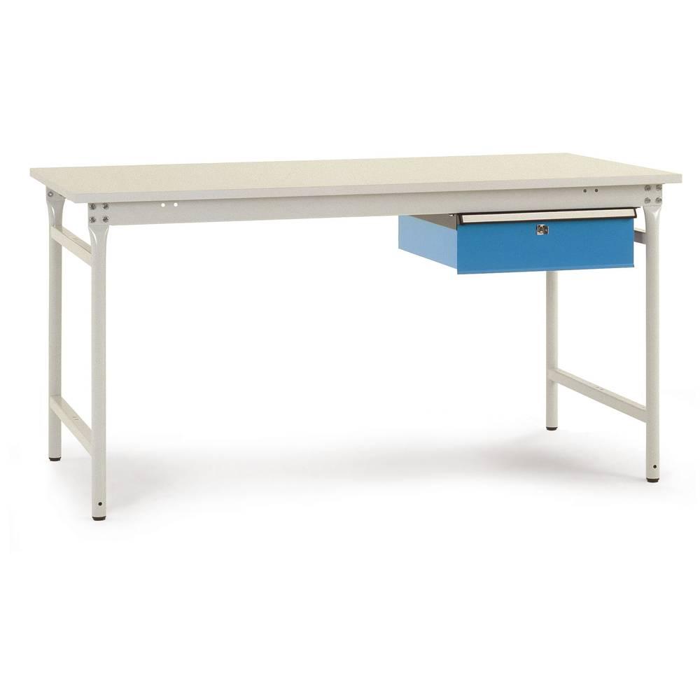 Manuflex BB5237.0002 Servírovací stolek základní stacionárně 1000x800x7 80mm, deska plastové RAL7035 světle šedá s RAL5007 briliantově modrá Barva: světle zelená