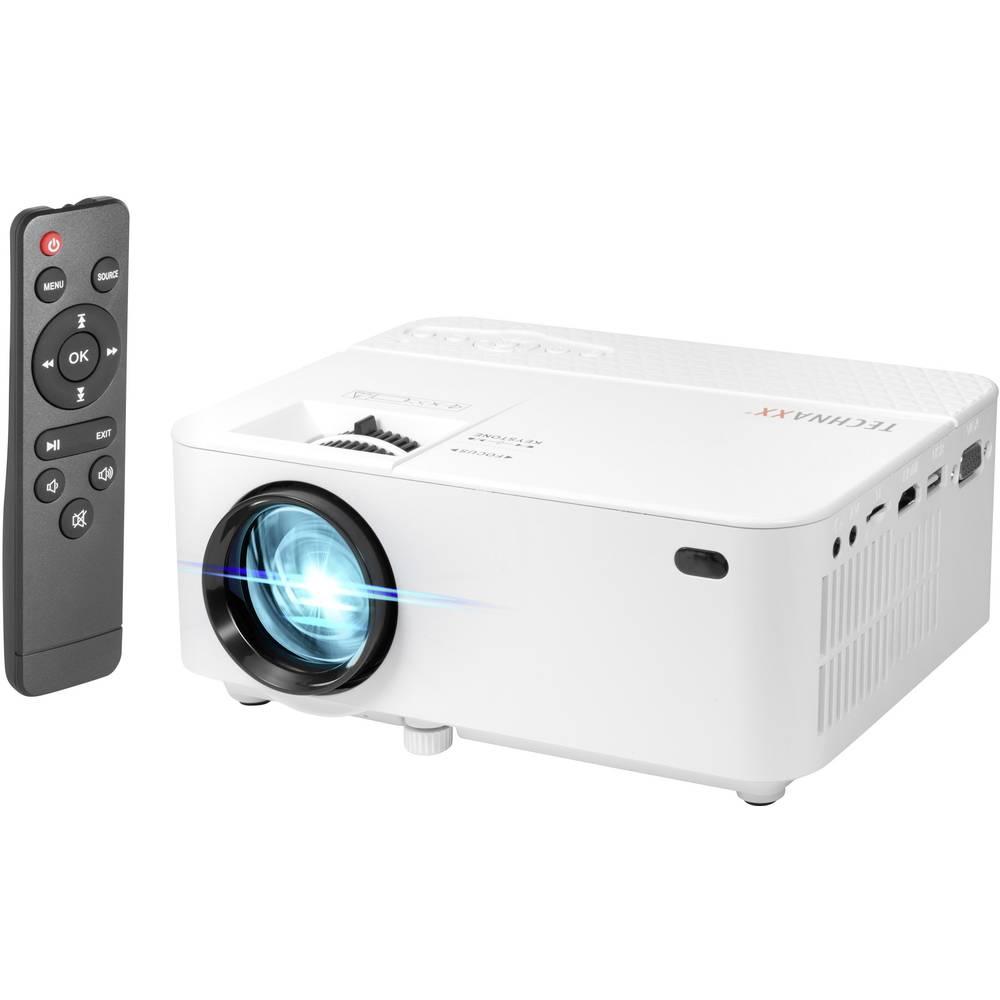 Technaxx projektor TX-113 LED Světelnost (ANSI Lumen): 1800 lm 800 x 480 WXGA 2000 : 1 bílá