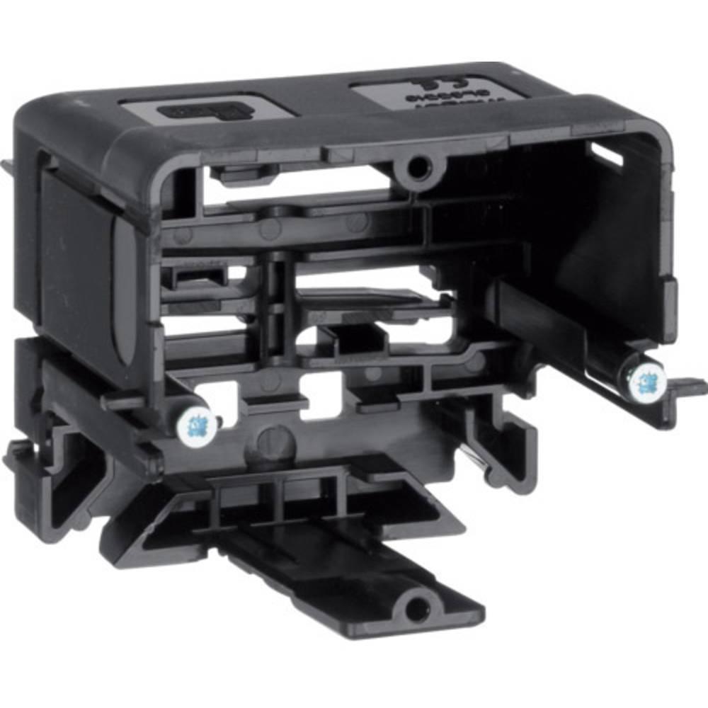 Hager GLS5510 parapetní lišta montážní elektroinstalační krabice (d x š) 71 mm x 64 mm 1 ks černá