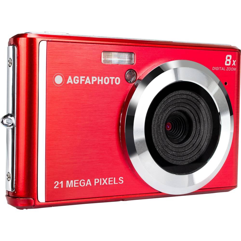 AgfaPhoto DC5200 digitální fotoaparát 21 MPix červená, stříbrná