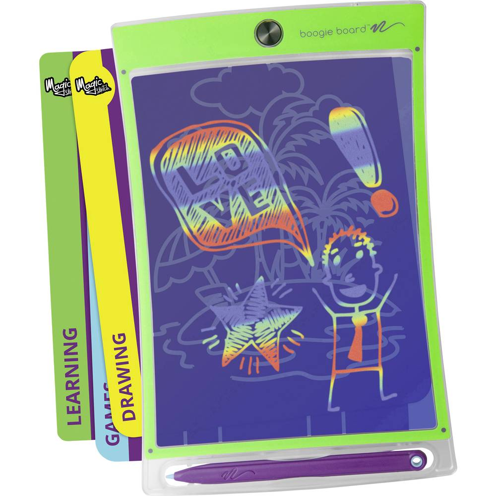 Boogie Board Magic Sketch kreslicí tablet zelená, transparentní