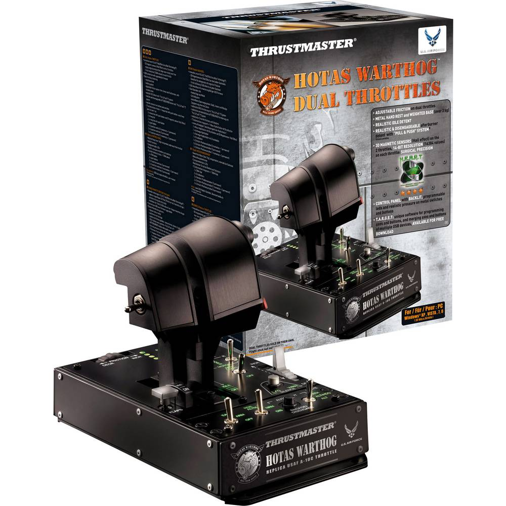 Thrustmaster Hotas Warthog Dual Throttle ovladač k leteckému simulátoru USB PC černá