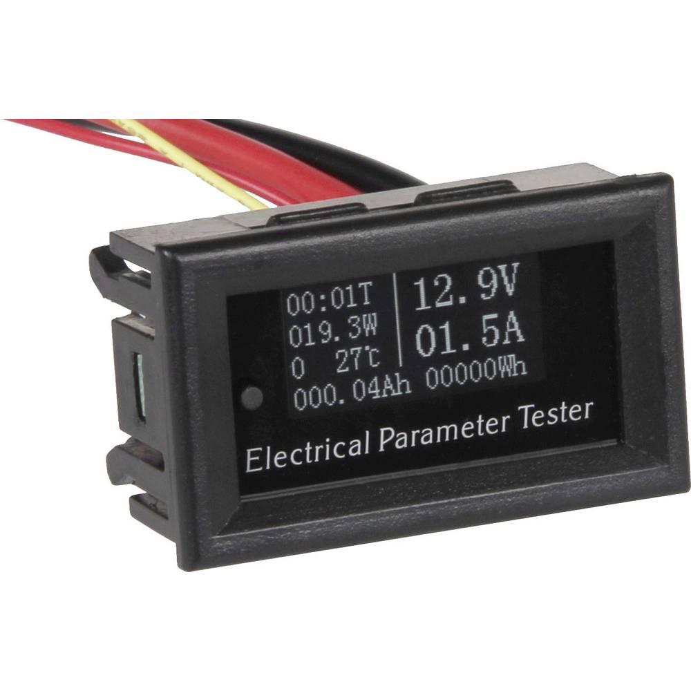 Joy-it VAO10020 digitální panelový měřič OLED multifunkční - měřicí přístroj 5 - 60 V (DC)