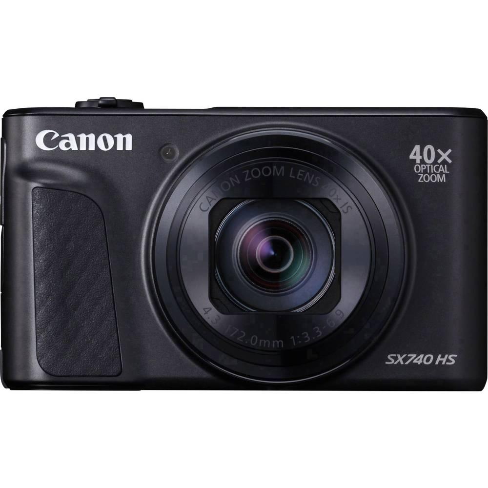 Canon PowerShot SX740 HS digitální fotoaparát 20.3 MPix Zoom (optický): 40 x černá 4K video, Bluetooth, otočný a naklápěcí displej, Full HD videozáznam