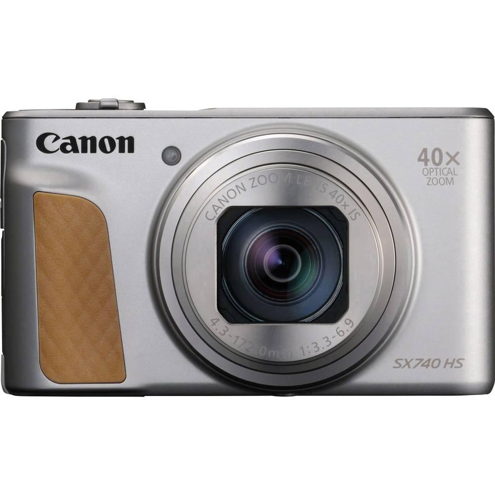 Canon PowerShot SX740 HS digitální fotoaparát 20.3 MPix Zoom (optický): 40 x stříbrná 4K video, Bluetooth, otočný a naklápěcí displej, Full HD videozáznam