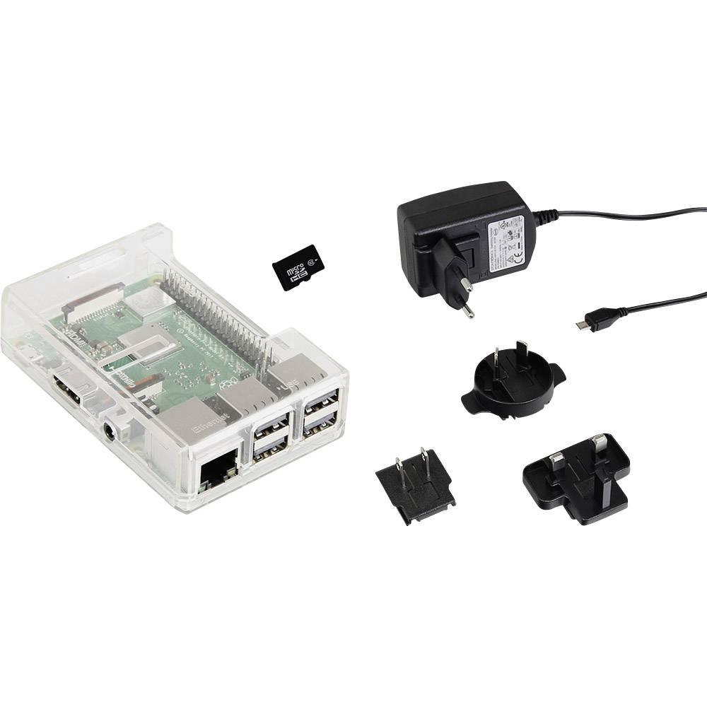 Joy-it Raspberry Pi® 3 B+ 1 GB 4 x 1.4 GHz vč. pouzdra, vč. napájecího zdroje, vč. Noobs OS