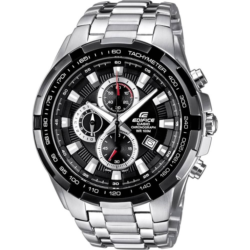 Casio chronografické náramkové hodinky EF-539D-1AVEF (d x š x v) 53.5 x 48.5 x 11.5 mm stříbrná, černá Materiál pouzdra=nerezová ocel materiál řemínku=nerezová ocel
