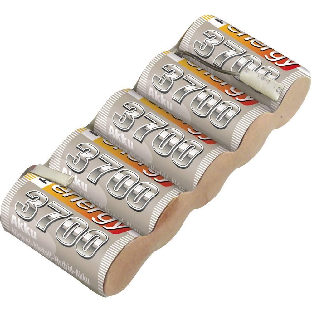 Conrad energy akupack přijímače (modelářství) 6 V 3700 mAh Side by Side s pájecími oky
