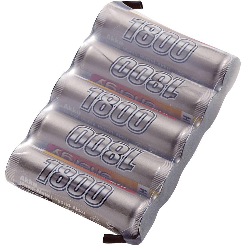 Conrad energy akupack přijímače (modelářství) 6 V 1800 mAh Side by Side s pájecími oky