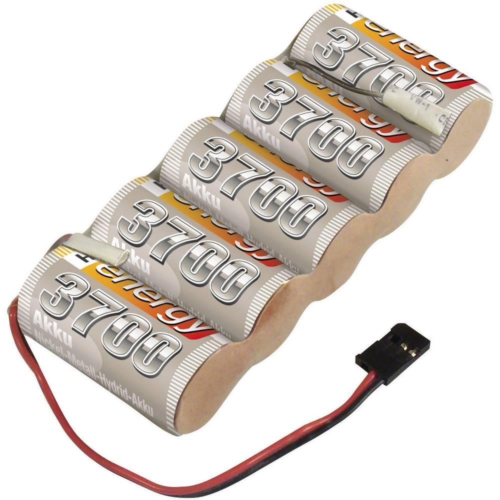 Conrad energy akupack přijímače (modelářství) 6 V 3700 mAh Side by Side zásuvka JR