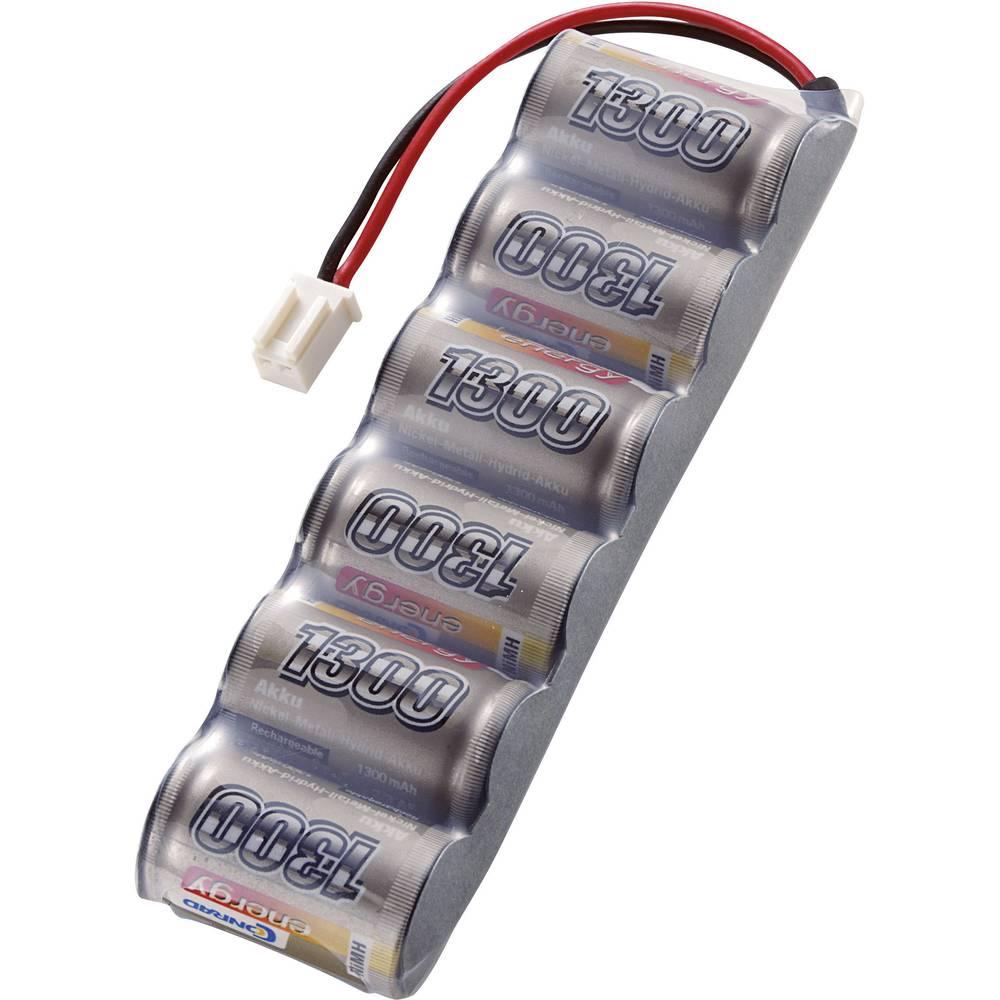 Conrad energy akupack NiMH (modelářství) 7.2 V 1300 mAh Počet článků: 6 Side by Side zásuvka Micro-Car