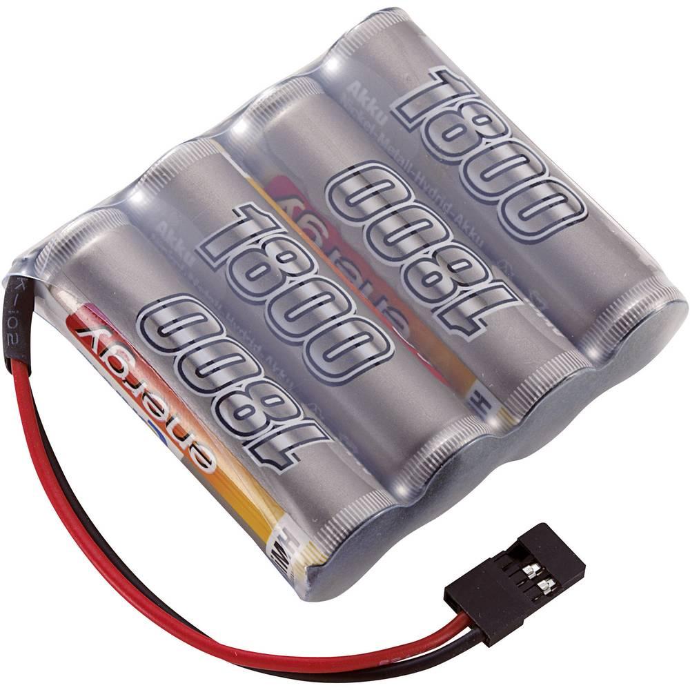 Conrad energy akupack přijímače (modelářství) 4.8 V 1800 mAh Side by Side zásuvka JR