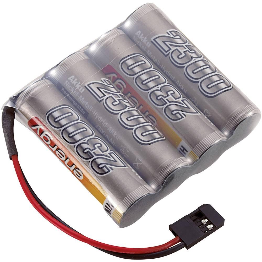 Conrad energy akupack přijímače (modelářství) 4.8 V 2300 mAh Side by Side zásuvka Futaba