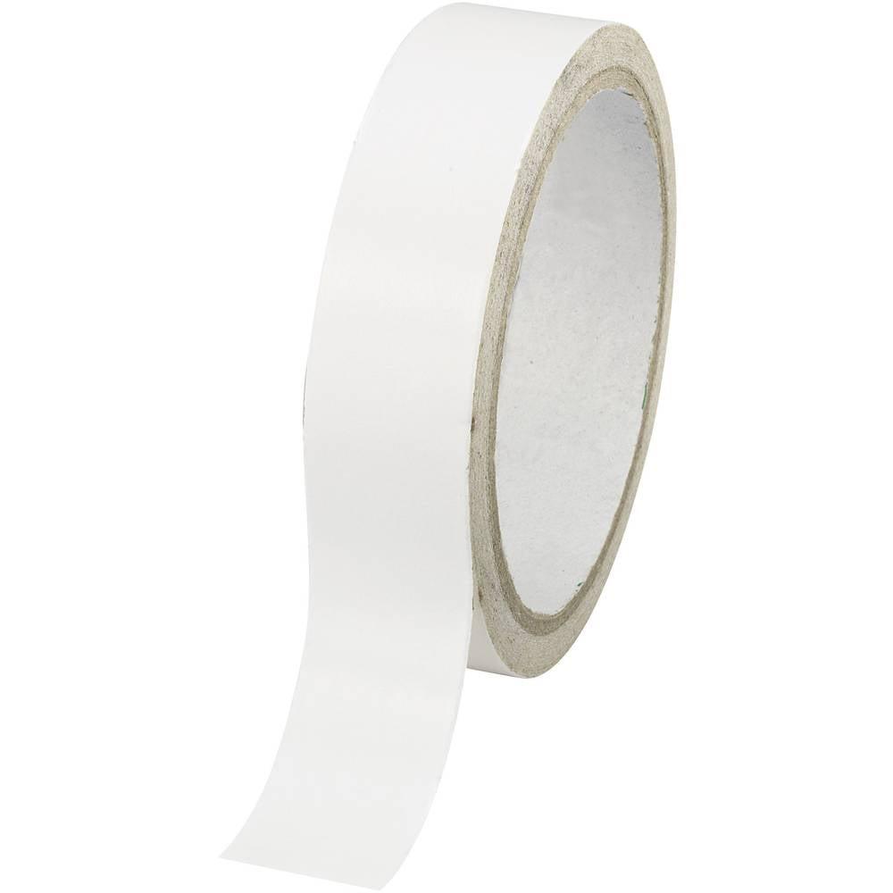 TOOLCRAFT DSTW-24 1564027 oboustranná lepicí páska bílá (d x š) 30 m x 24 mm 1 ks
