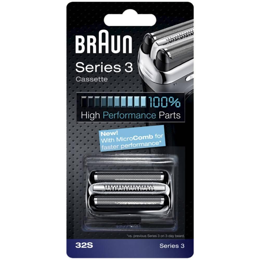 Braun 32S holicí hlava stříbrná 1 sada
