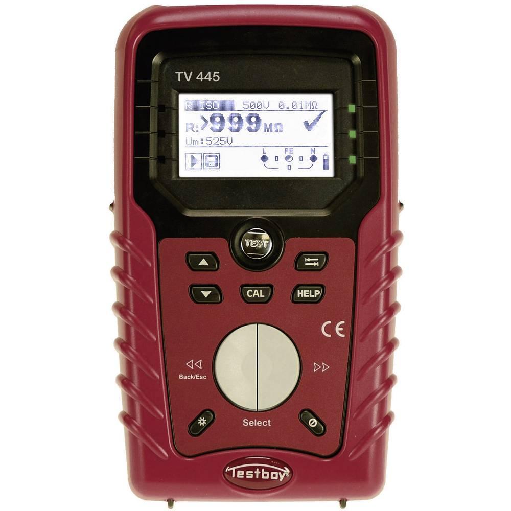 <br> TV 445Instalační tester/testovací přístroj VDE,DIN VDE 0100-600, ÖVE E8001, NIN/NIV, test FI/RCD typ AC, A Kalibrováno dle bez certifikátu