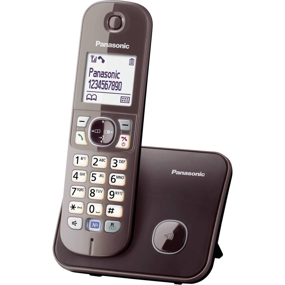 Panasonic KX-TG6811 DECT, GAP bezdrátový analogový telefon handsfree mocca