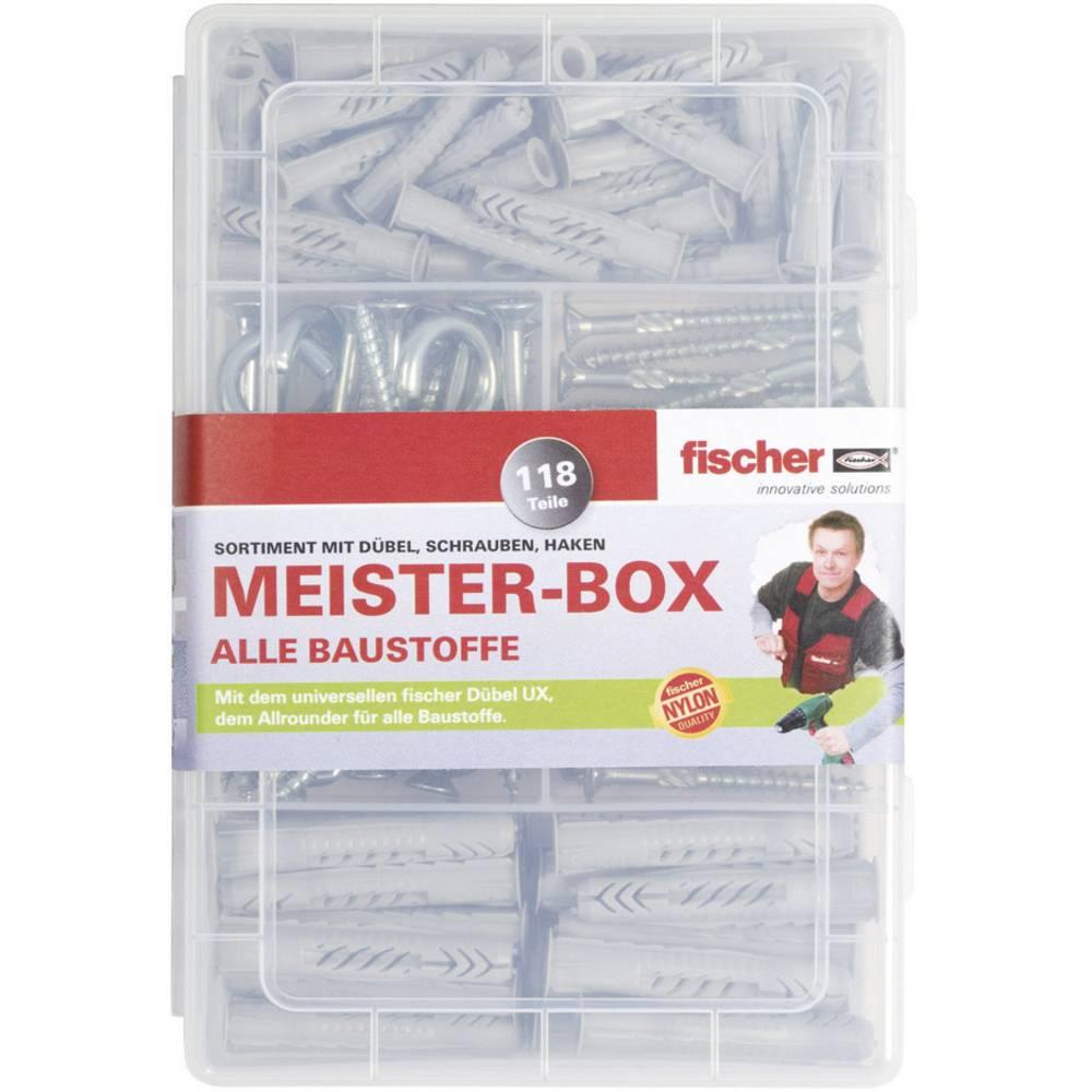 Fischer 513894 S meister-box UX-R hmoždinky, šrouby, kulatý a úhlové háček Množství 118 díly
