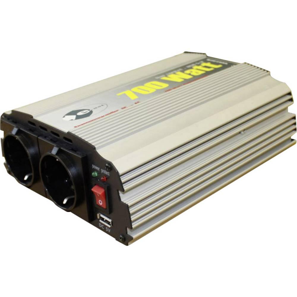 trapézový měnič napětí e-ast CL700-D-12 z 12 V/DC na 230 V/AC, 5 V/DC, 700 W