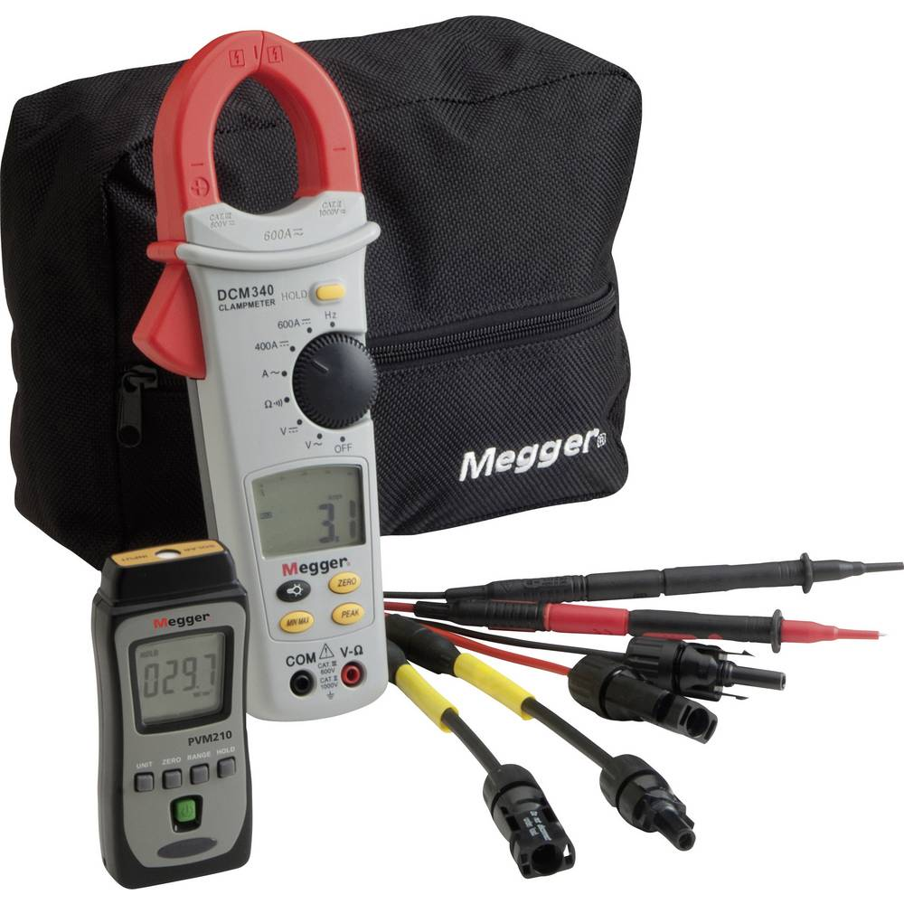 Megger PVK330 měřič parametrů fotovoltaických zařízení, proudové kleště digitální CAT III 600 V Displej (counts): 4000