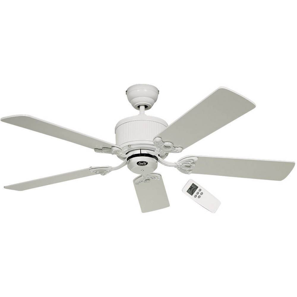 CasaFan Eco Elements stropní ventilátor (Ø) 132 cm Barva listu: bílá, šedá Barva pouzdra: lakovaná bílá