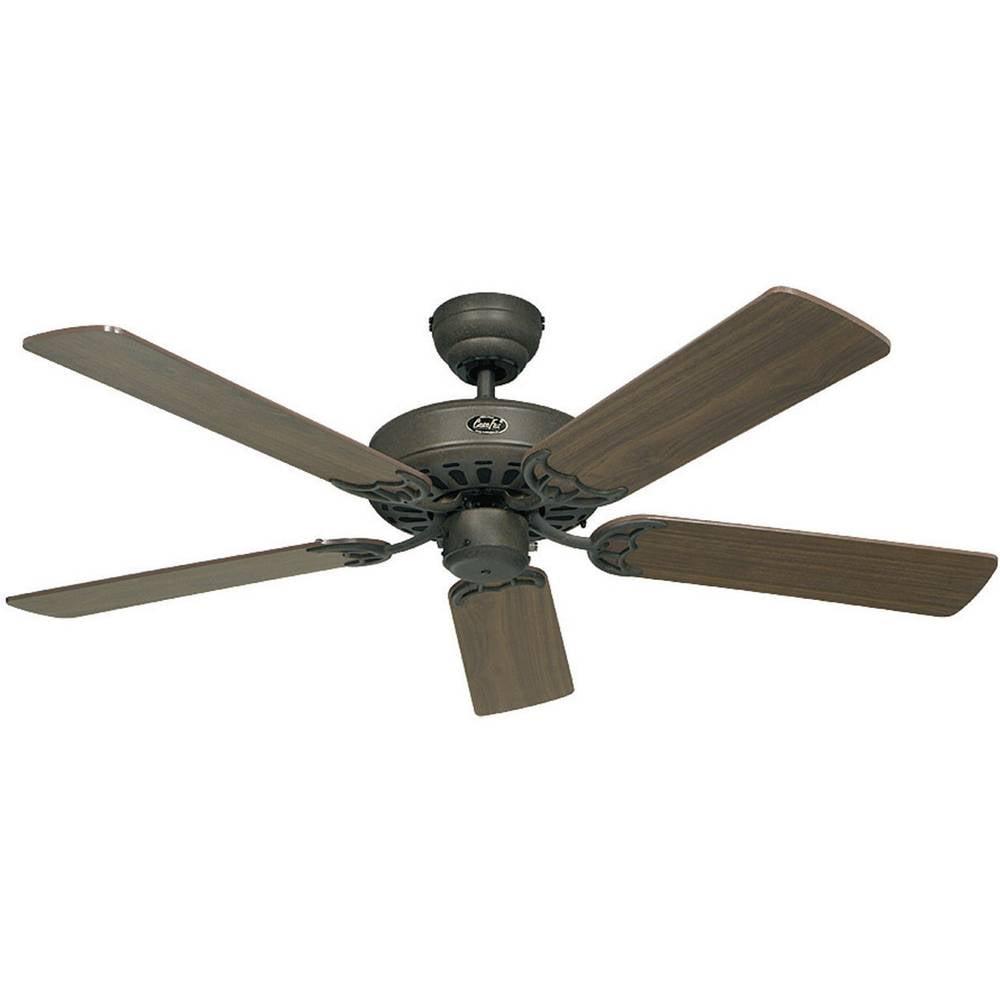 CasaFan Classic Royal 132 BA stropní ventilátor (Ø) 132 cm Barva listu: ořechová Barva pouzdra: hnědá