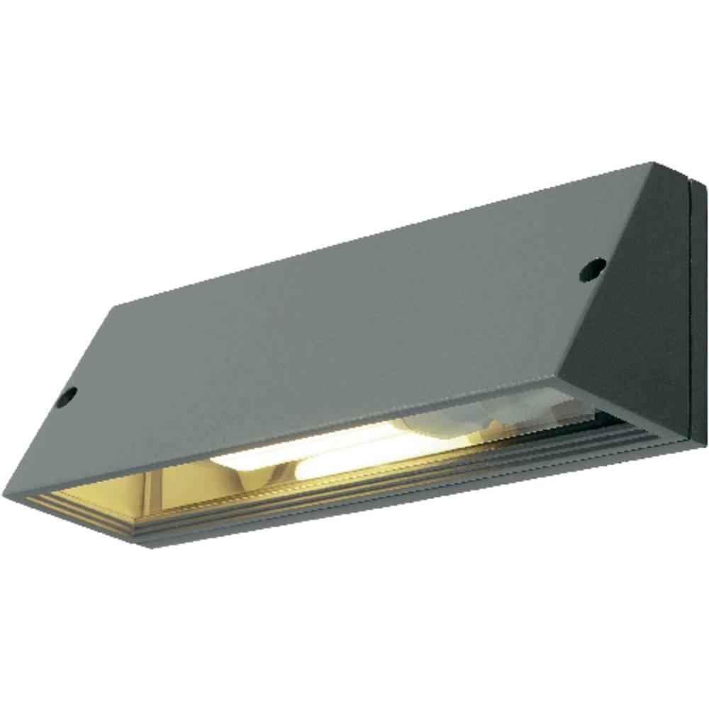 SLV Pema 230034 venkovní nástěnné osvětlení úsporná žárovka, LED E27 15 W stříbrnošedá