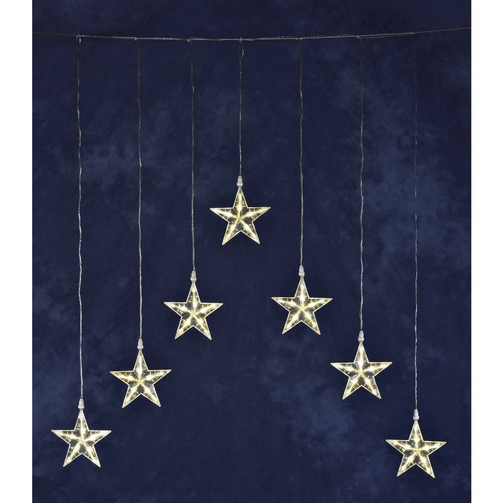 Konstsmide světelný závěs - hvězdičky venkovní 24 V 35 LED teplá bílá (š x v) 75 cm x 116 cm