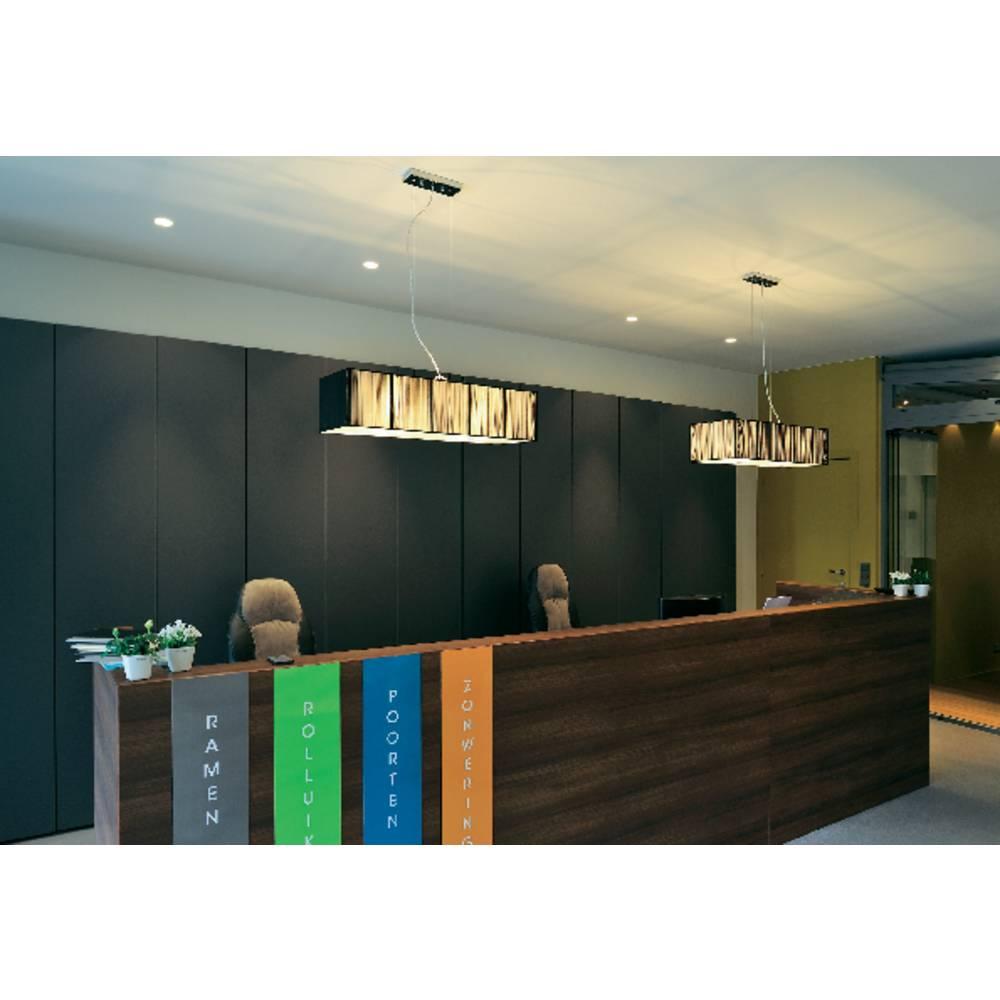 SLV Lasson 155290 závěsné světlo halogenová žárovka, úsporná žárovka E27 240 W černá, béžová