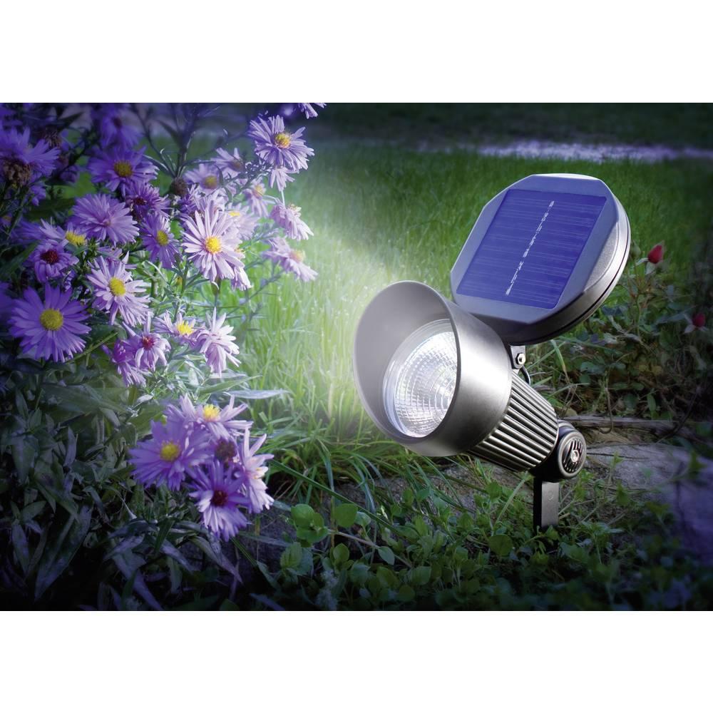 Esotec solární zahradní lampa Spotlight 102138 LED studená bílá černá