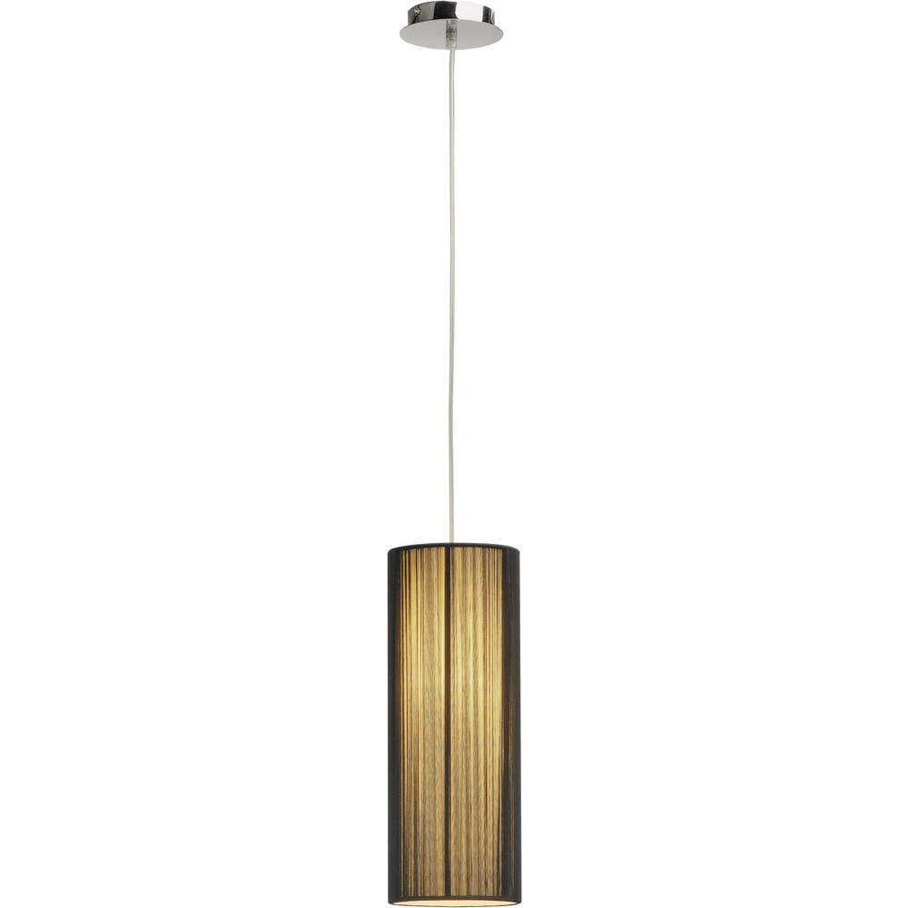SLV Lasson 155380 závěsné světlo halogenová žárovka, úsporná žárovka E27 40 W černá, béžová