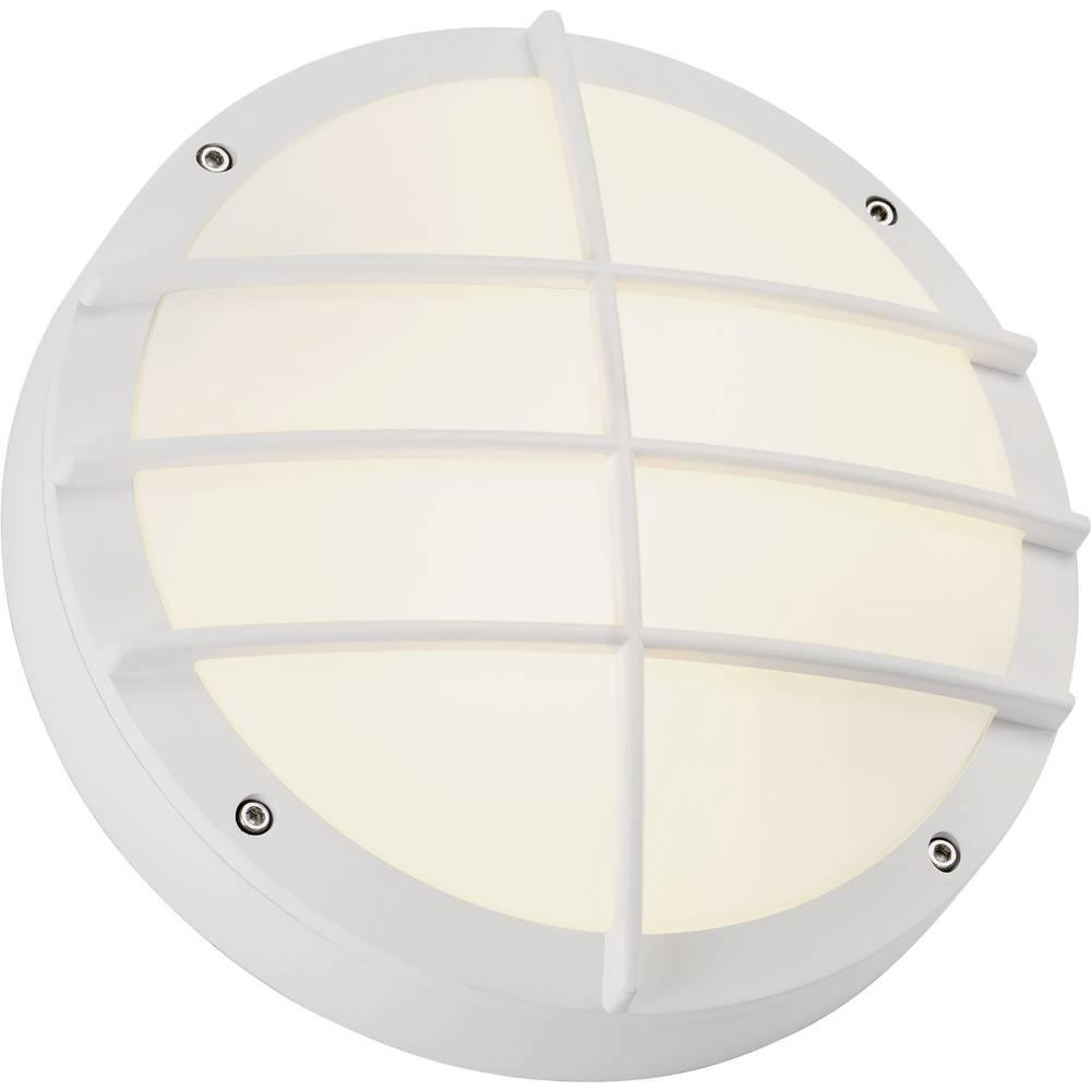 SLV Bulan Grid 229081 venkovní nástěnné osvětlení úsporná žárovka, LED E27 50 W bílá