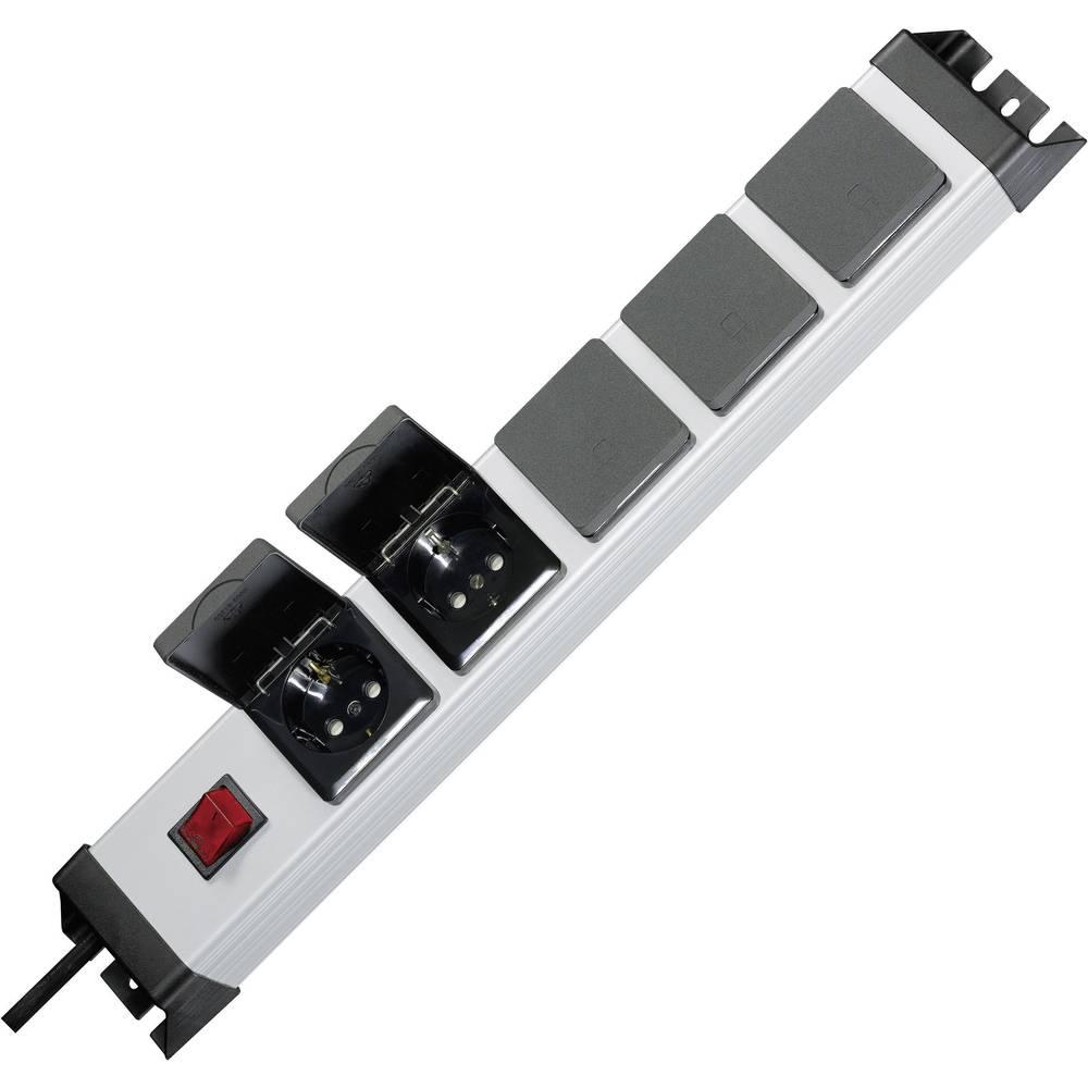Kopp 227320017 zásuvková lišta 19'' 5násobné stříbrná, černá DE schuko zástrčka/zásuvky 1 ks