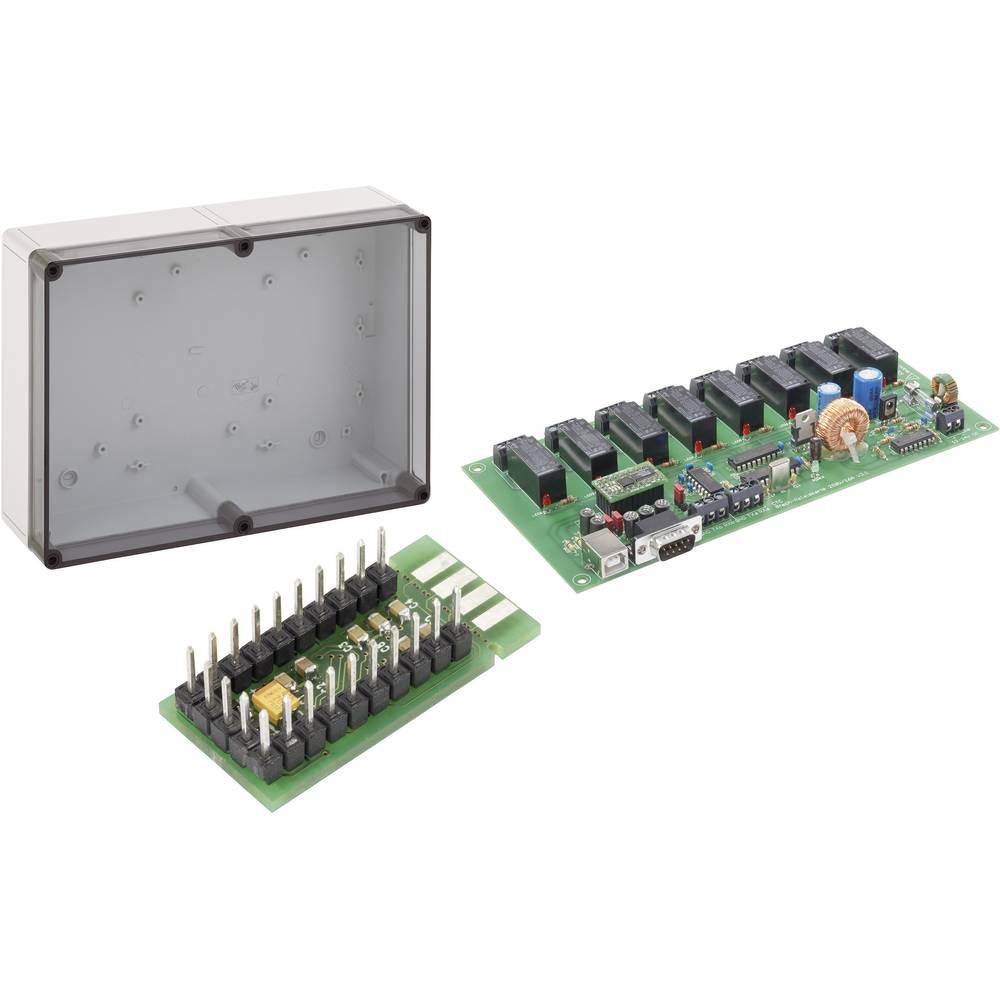 <br> Sada 8nás. reléové karty Conrad Components 230 V/AC / 16 A + adaptérová deska USB na RS232 + svorkovnicová skříň TK<br>