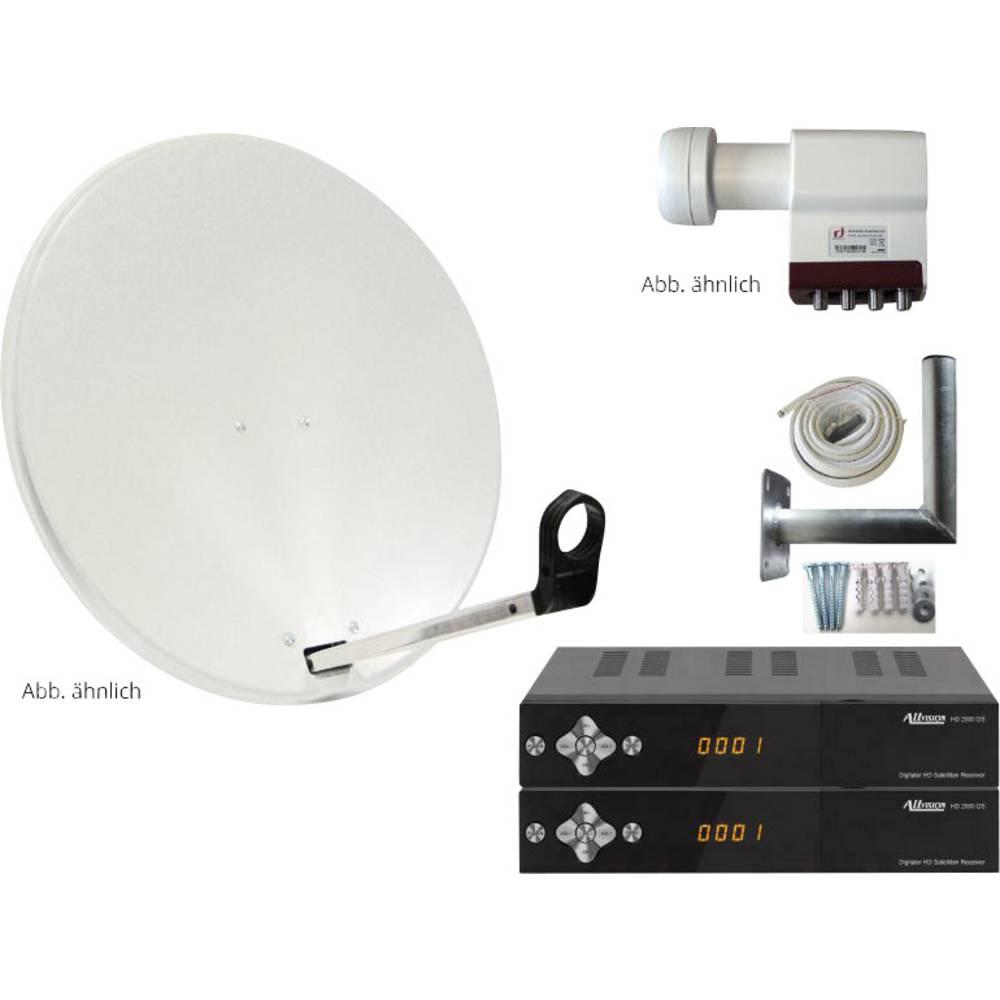 AllVision SAH-S 4000/80 HD satelit s přijímačem Teilnehmer-Anzahl 4 80 cm
