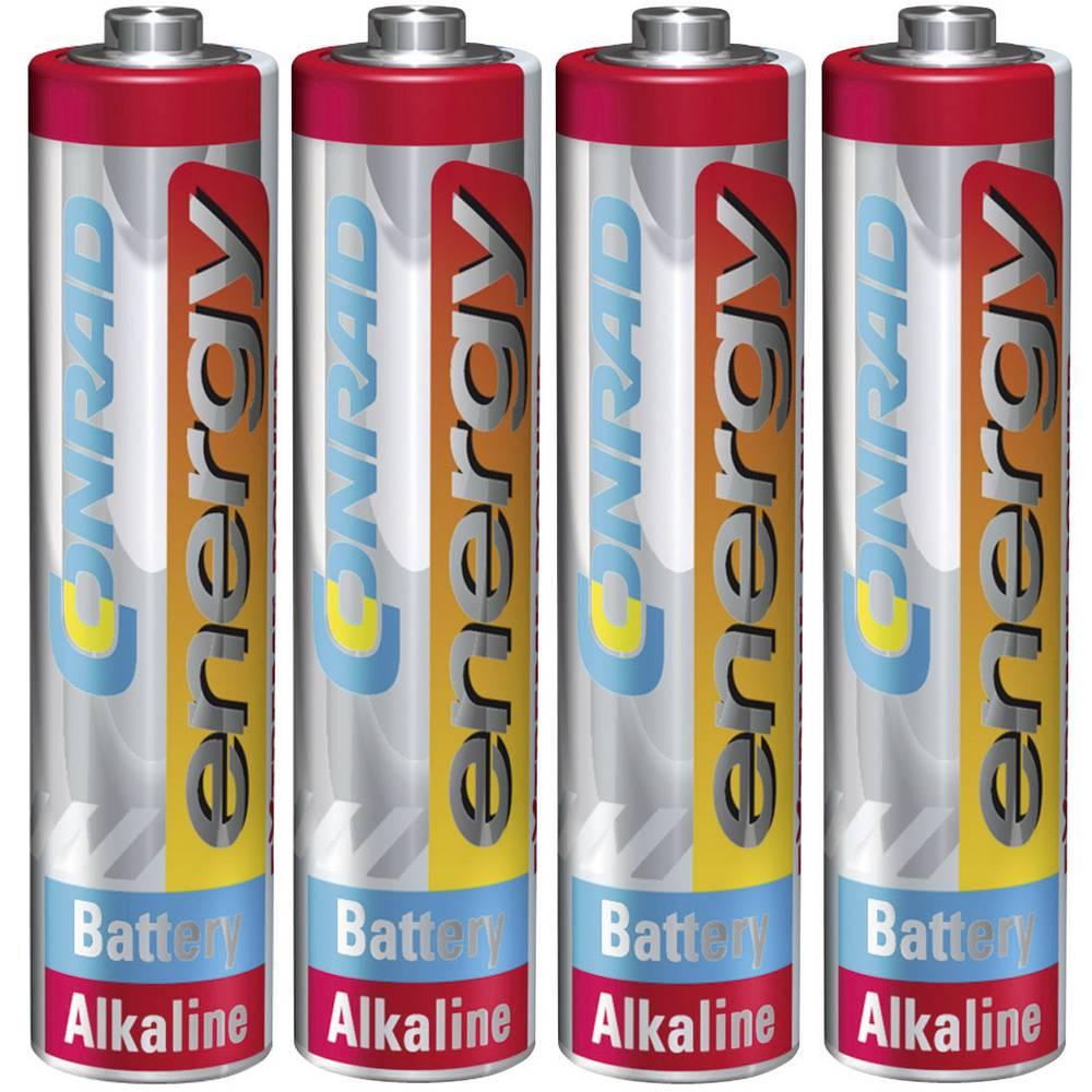 Conrad energy Extreme Power LR03 mikrotužková baterie AAA alkalicko-manganová 1.5 V 4 ks