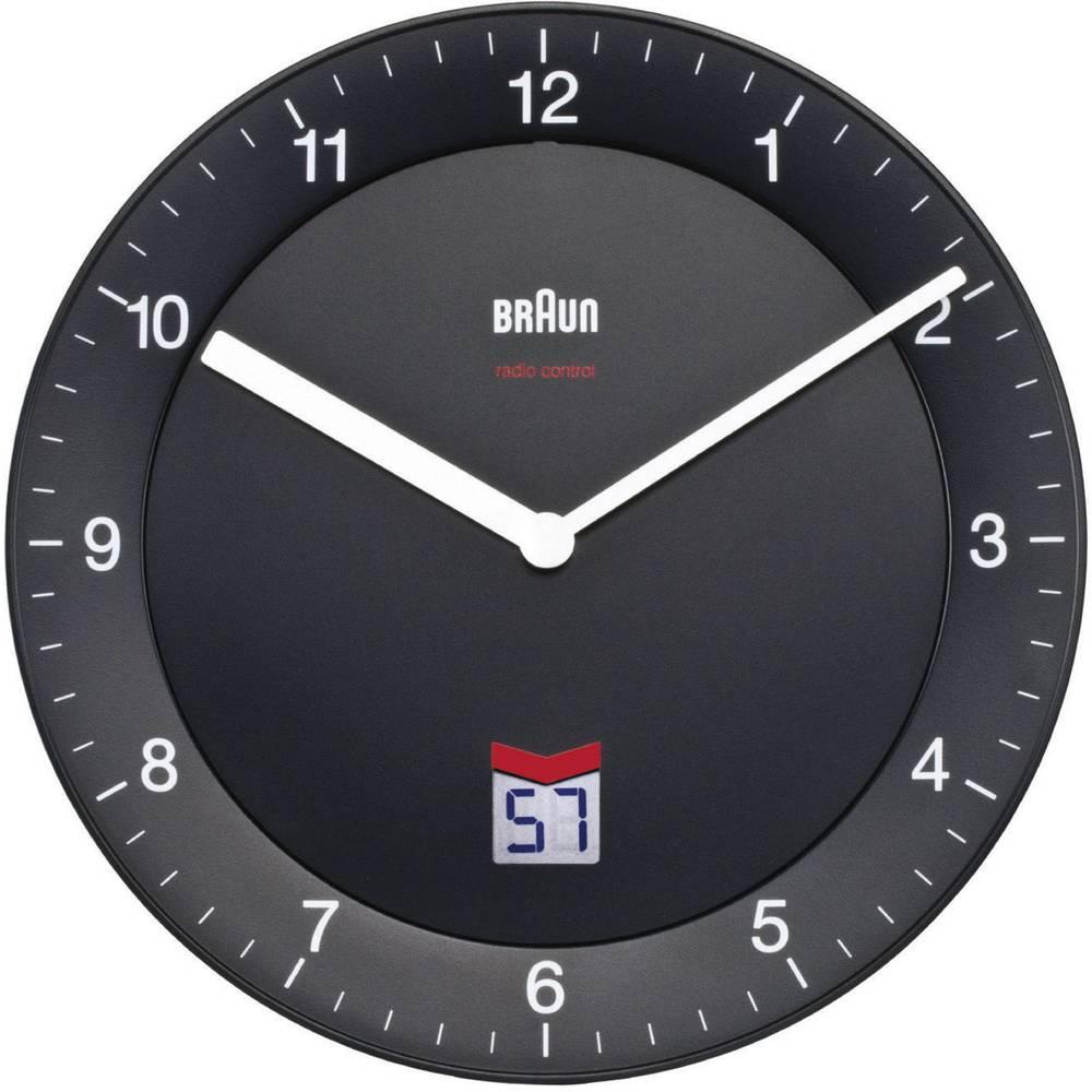 Braun 66012 DCF nástěnné hodiny 20 cm černá tiché hodiny (bez tikání)
