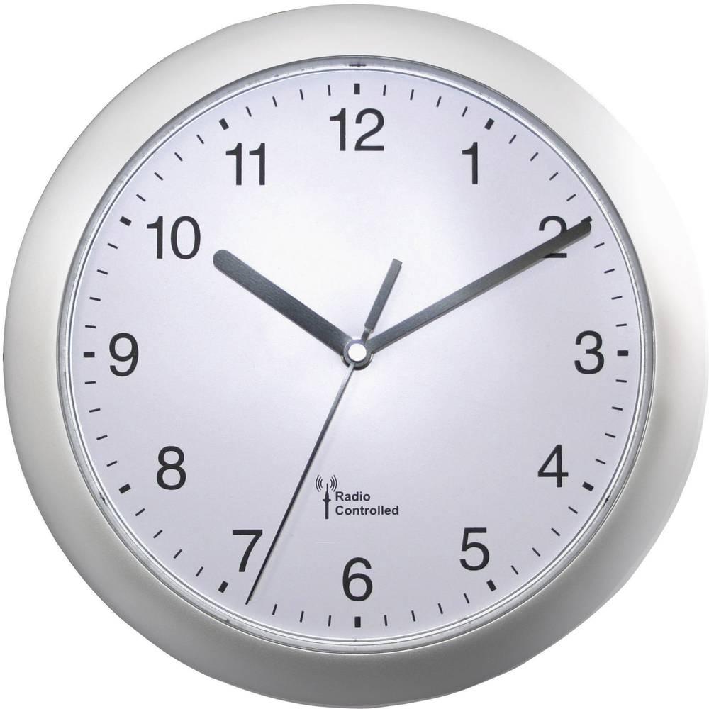 EUROTIME 56787 DCF nástěnné hodiny 25 cm x 3.8 cm stříbrná