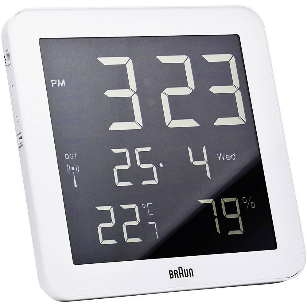 Braun 66028 DCF nástěnné hodiny 210 mm x 210 mm x 23 mm bílá
