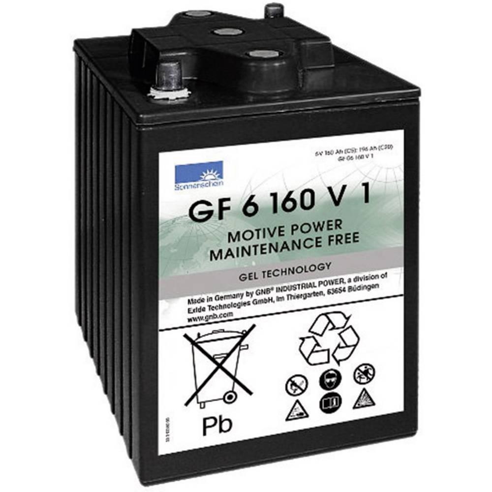 GNB Sonnenschein GF 06 160V1 olověný akumulátor 6 V 160 Ah olověná gelová (š x v x h) 246 x 275 x 192 mm konický konektor bezúdržbové